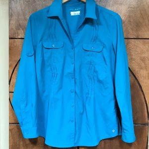 COLUMBIA sportwear UV protective Omni shade LS 🔵